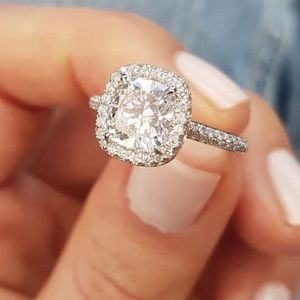 3ct CZ engagement ring size 7